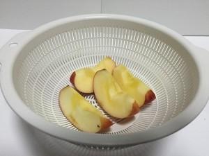 小松菜とりんごのスムージー材料りんご
