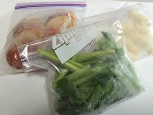 小松菜とりんごのスムージー冷凍