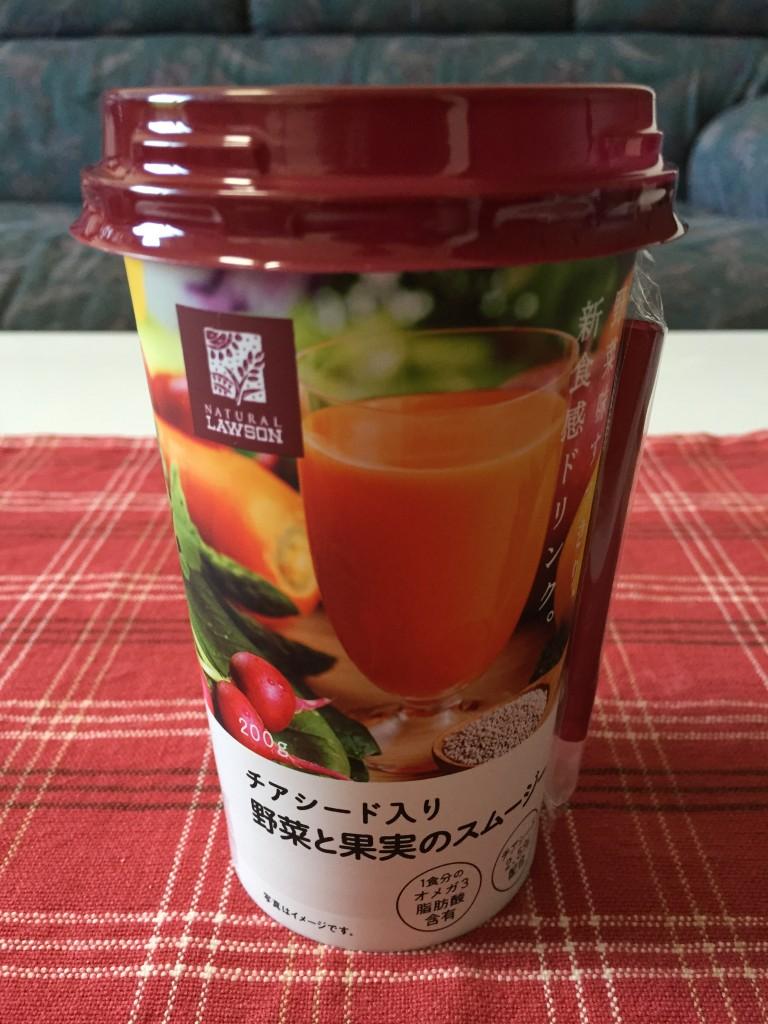 チアシード入り野菜と果実のスムージー1